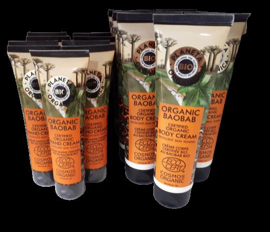 Crema certificada ecológicamente ecocert Baobab