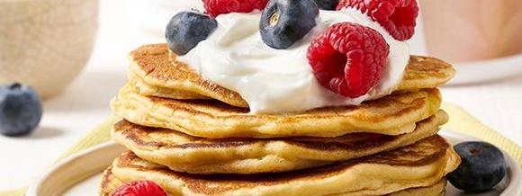 Cookie Crunch and Peanut Protein Pancakes