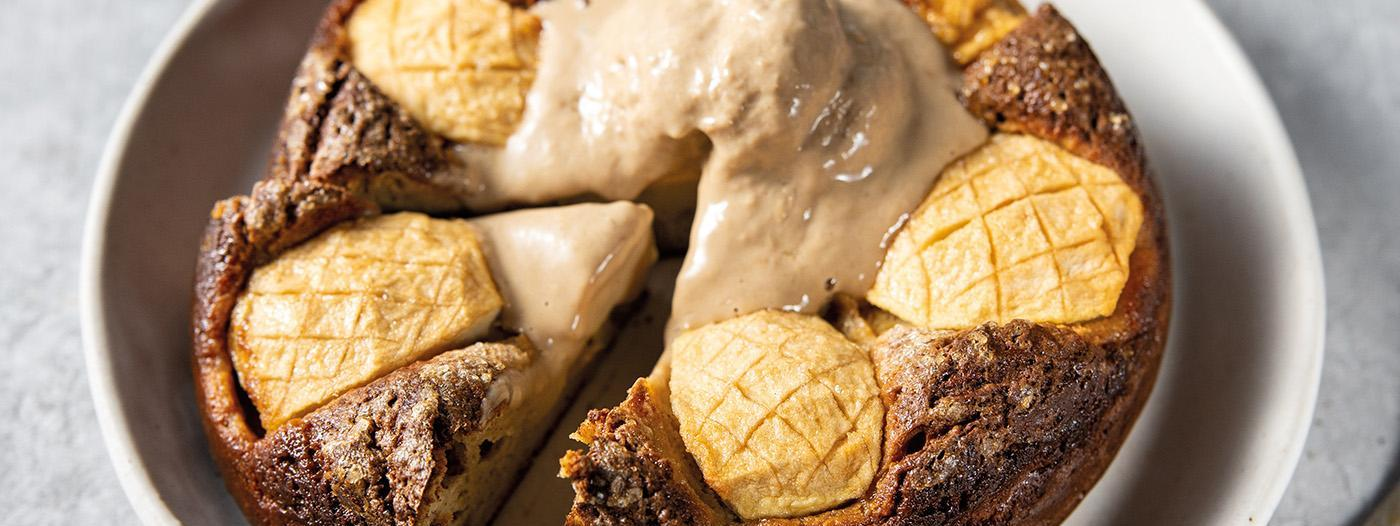 Hot and Cold Apple Pie with Coffee Ice Cream