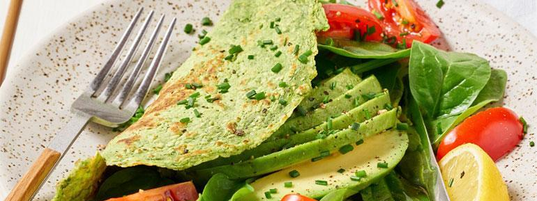 Spinach Protein Omlette