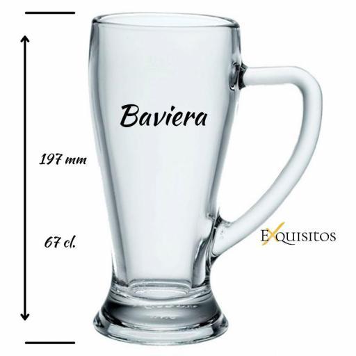 JARRA CERVEZA GRABADA. BAVIERA 67 [1]