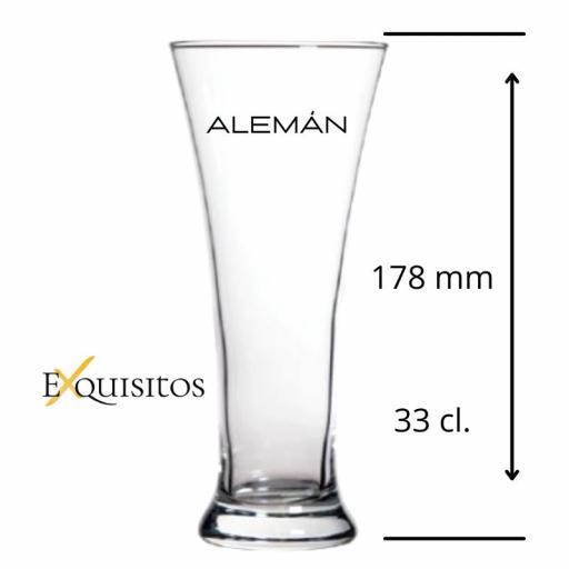 Vaso de Cerveza Alemán Personalizado.  [1]