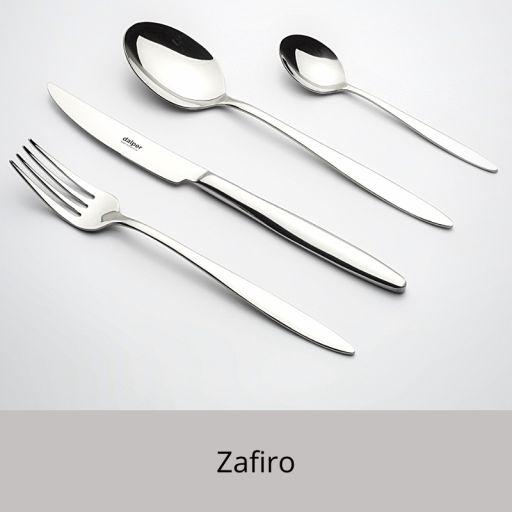 CUBIEROS ZAFIRO EN CAJA MADERA REGALO PERSONALIZADA
