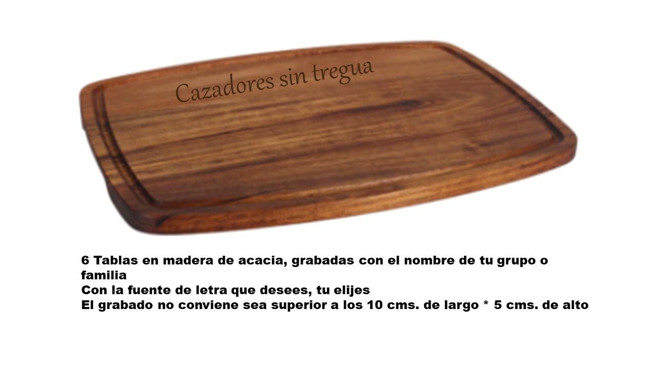 TABLA CHULETÓN PERSONALIZADA