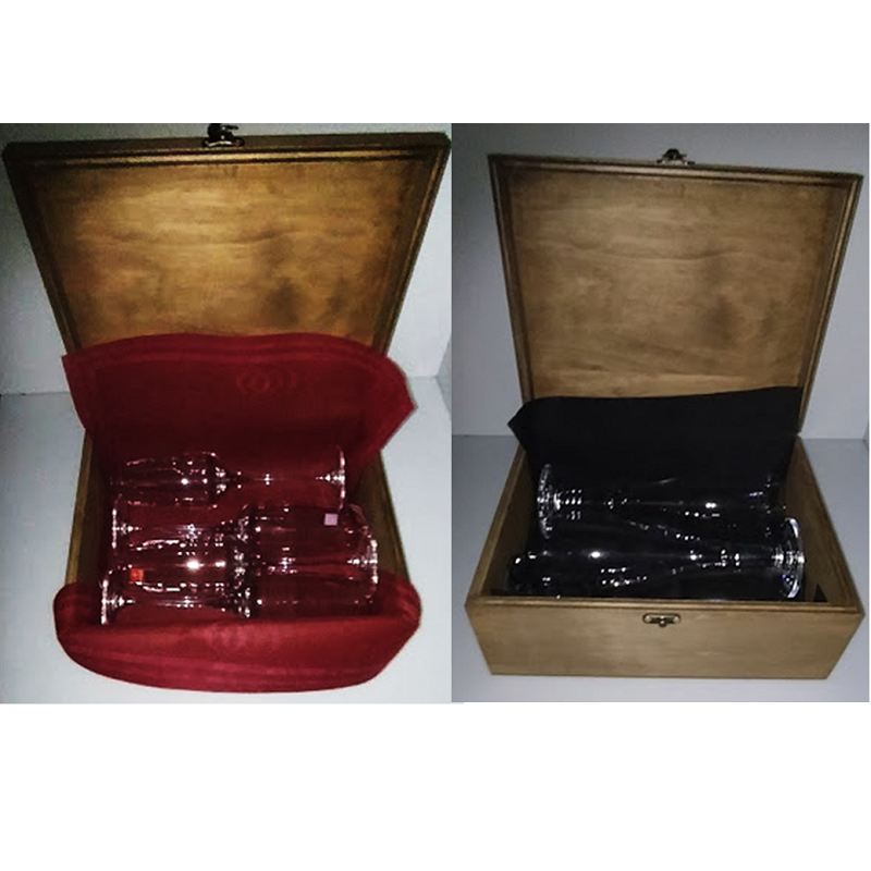 Copas de cerveza personalizadas en Caja de Madera para regalo
