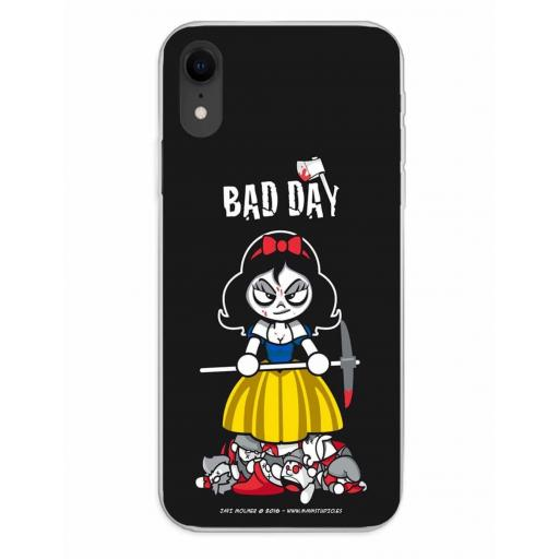 Apple iPhone XR Funda Silicona Bad Day Deadly Apple