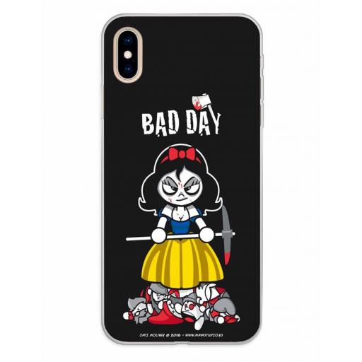 Apple iPhone XS Max Funda Silicona Bad Day Deadly Apple