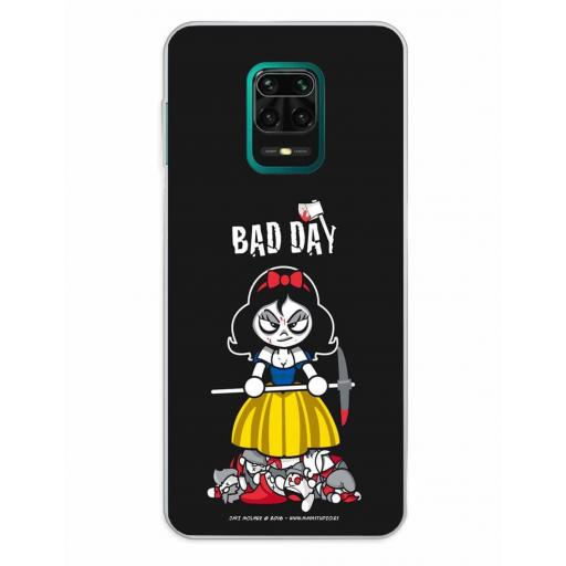 Xiaomi Redmi Note 9S / Redmi Note 9 Pro / Redmi Note 9 Pro Max Funda Silicona Bad Day Deadly Apple