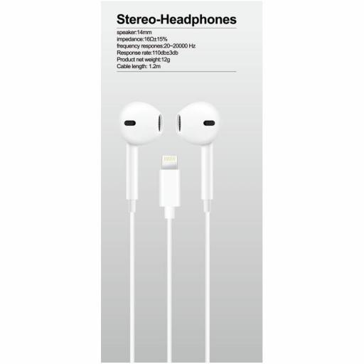 Auricular lightning compatible Apple con cable para IPHONE + MICRO [1]