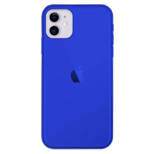 Apple iPhone 11 Funda Silicona Azul