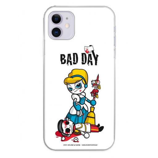 Apple iPhone 11 Funda Silicona Bad Day Fatal Blonde