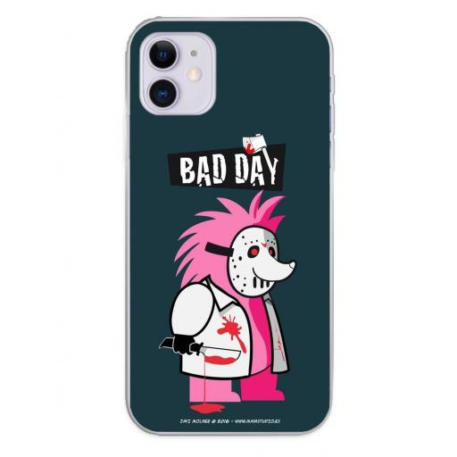 Apple iPhone 11 Funda Silicona Bad Day Hedgehog