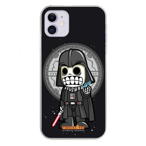 Apple iPhone 11 Funda Silicona Calaveritas Dark