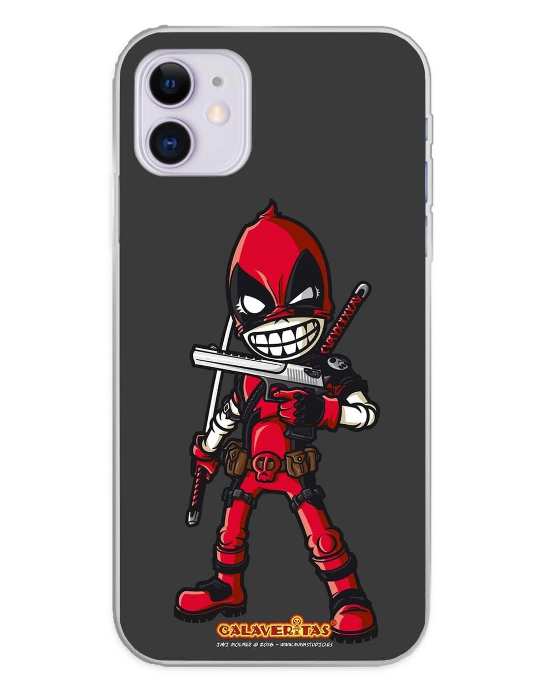 Apple iPhone 11 Funda Silicona Calaveritas Red Devil