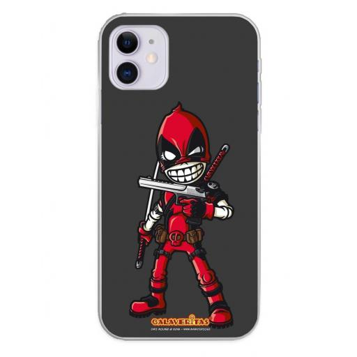 Apple iPhone 11 Funda Silicona Calaveritas Red Devil [0]