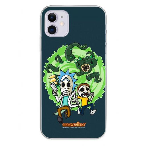 Apple iPhone 11 Funda Silicona Calaveritas Scape