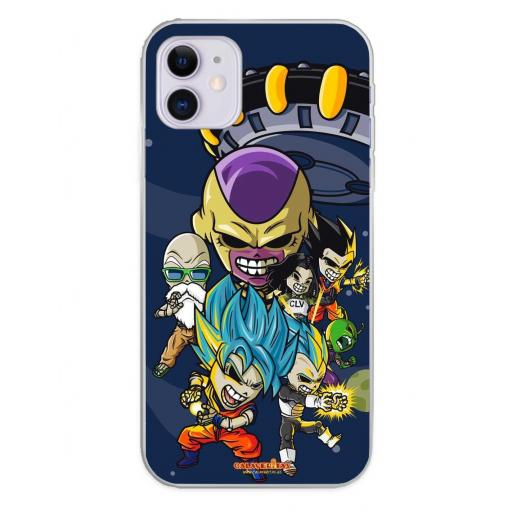 Apple iPhone 11 Funda Silicona Calaveritas Skull Fighters 4 [0]