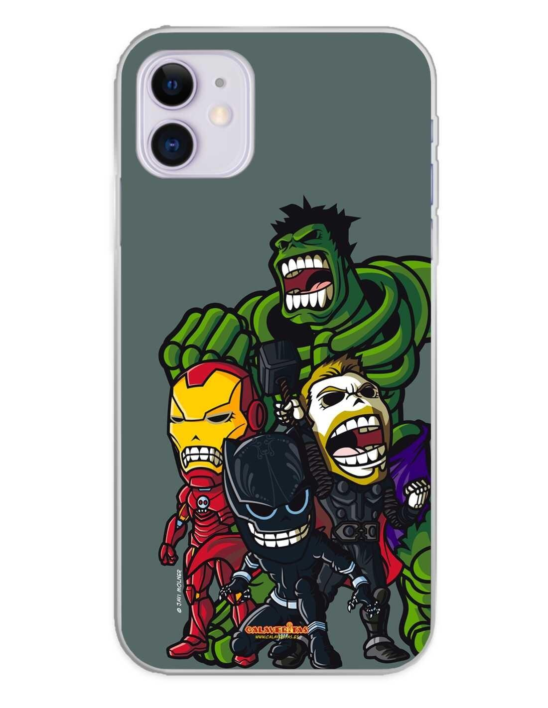 Apple iPhone 11 Funda Silicona Calaveritas The Fighters 2