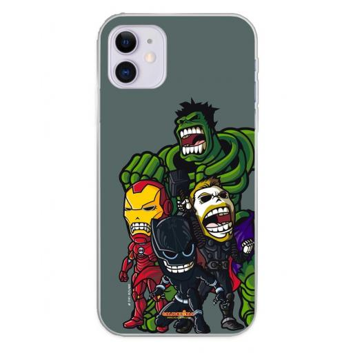 Apple iPhone 11 Funda Silicona Calaveritas The Fighters 2 [0]