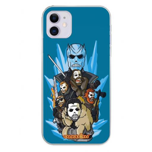 Apple iPhone 11 Funda Silicona Calaveritas Valiants