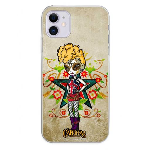 Apple iPhone 11 Funda Silicona Catrinas Gwen