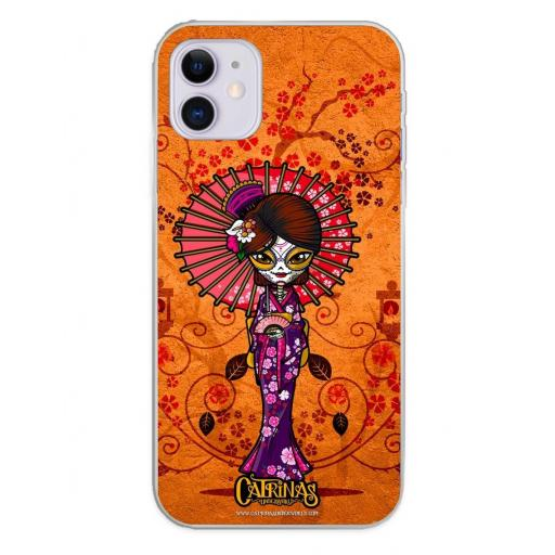 Apple iPhone 11 Funda Silicona Catrinas Mariko [0]