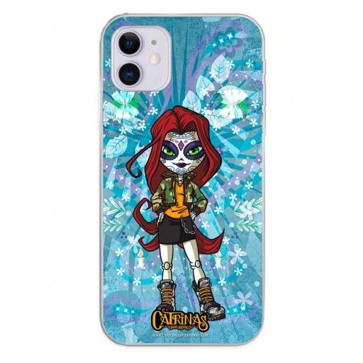 Apple iPhone 11 Funda Silicona Catrinas Maya