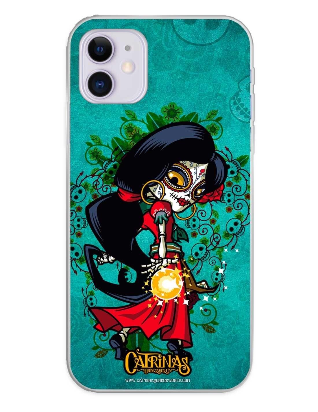 Apple iPhone 11 Funda Silicona Catrinas Rosabella