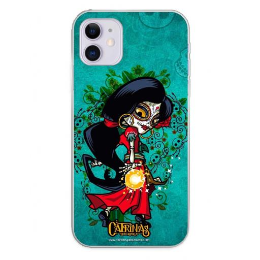 Apple iPhone 11 Funda Silicona Catrinas Rosabella [0]