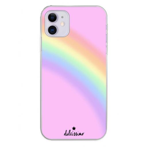 Apple iPhone 11 Funda Silicona Dulcissimo Arcoiris
