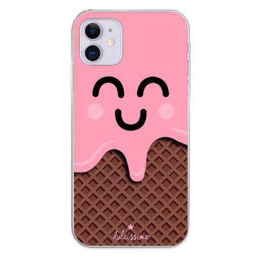 Apple iPhone 11 Funda Silicona Dulcissimo Helado Rosa