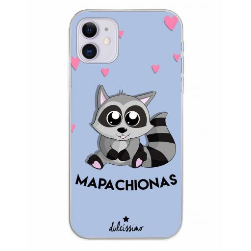 Apple iPhone 11 Funda Silicona Dulcissimo Mapachionas