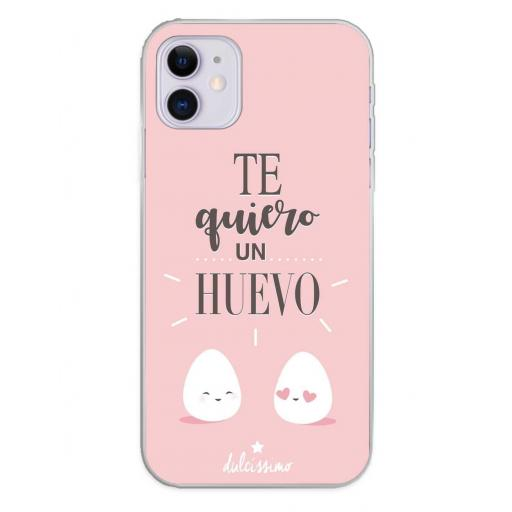 Apple iPhone 11 Funda Silicona Dulcissimo Te quiero Un Huevo