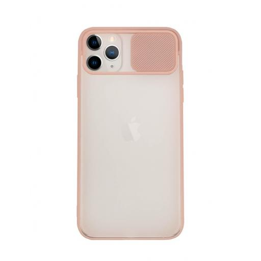 Apple iPhone 11 Pro Max Funda con Protección de Cámara Rosa