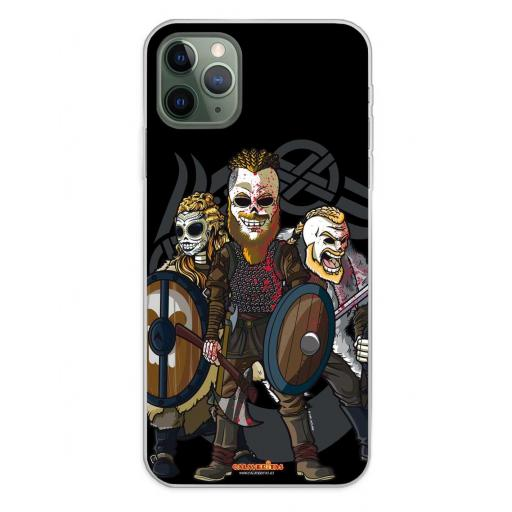 Apple iPhone 11 Pro Max Funda Silicona Calaveritas Bárbaros