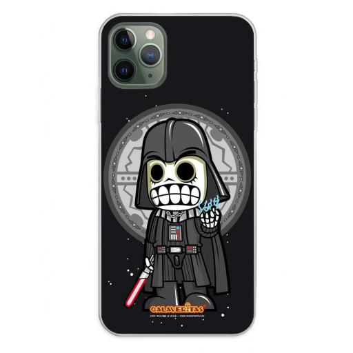 Apple iPhone 11 Pro Max Funda Silicona Calaveritas Dark