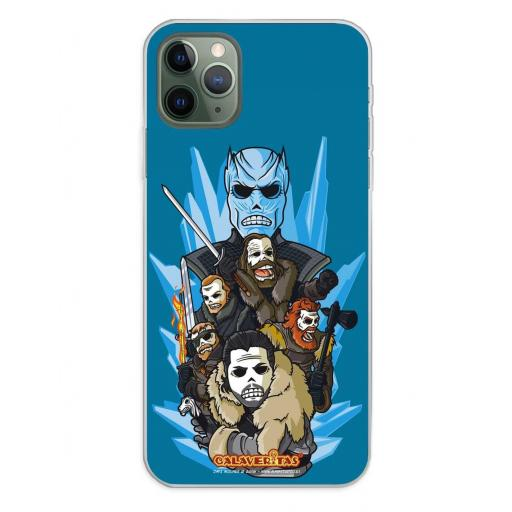 Apple iPhone 11 Pro Max Funda Silicona Calaveritas Valiants