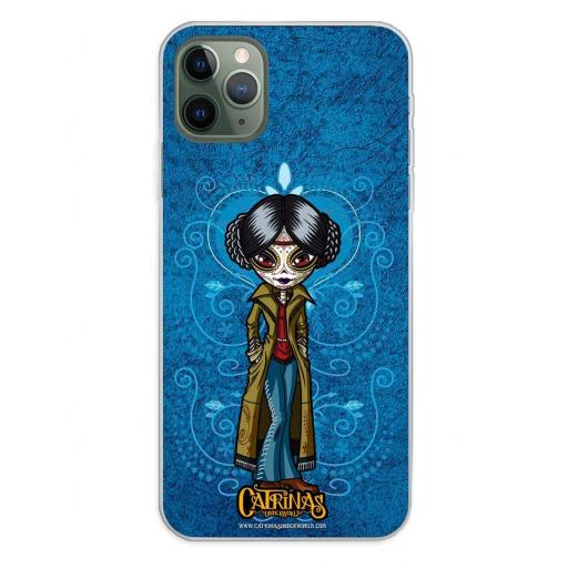 Apple iPhone 11 Pro Max Funda Silicona Catrinas Angélica