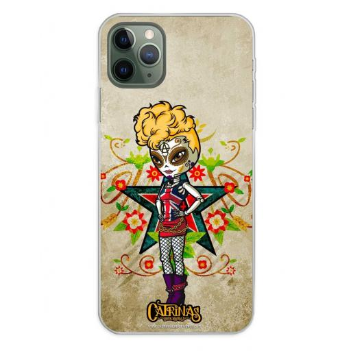 Apple iPhone 11 Pro Max Funda Silicona Catrinas Gwen