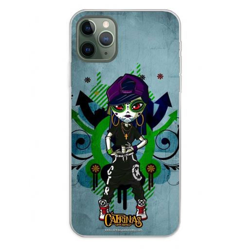 Apple iPhone 11 Pro Max Funda Silicona Catrinas Laia