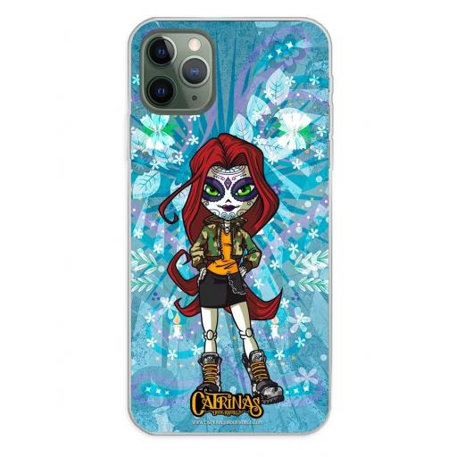 Apple iPhone 11 Pro Max Funda Silicona Catrinas Maya