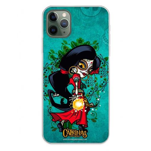 Apple iPhone 11 Pro Max Funda Silicona Catrinas Rosabella