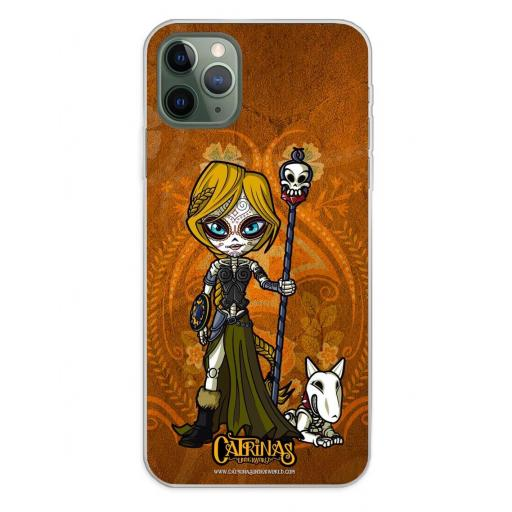 Apple iPhone 11 Pro Max Funda Silicona Catrinas Valeria
