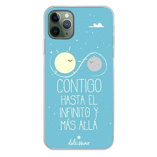 Apple iPhone 11 Pro Max Funda Silicona Dulcissimo Hasta El Infinito