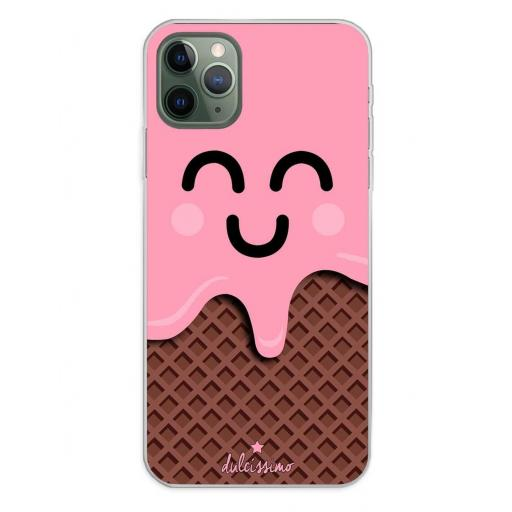 Apple iPhone 11 Pro Max Funda Silicona Dulcissimo Helado Rosa