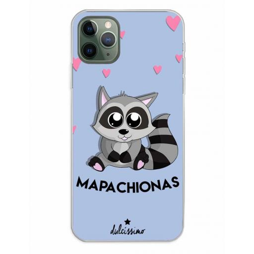 Apple iPhone 11 Pro Max Funda Silicona Dulcissimo Mapachionas