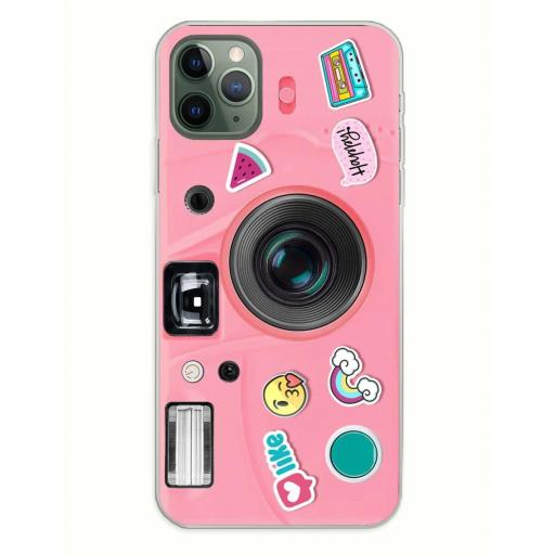 Apple iPhone 11 Pro Max Funda Silicona Emily in Love and Phone Rosa