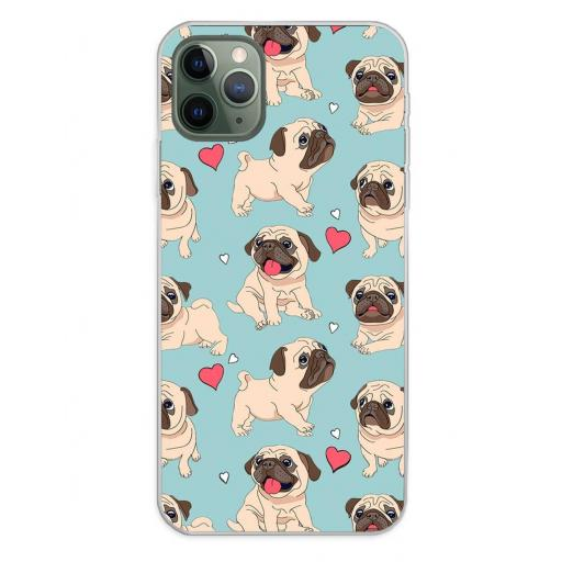 Apple iPhone 11 Pro Max Funda Silicona Fondos Carlinos