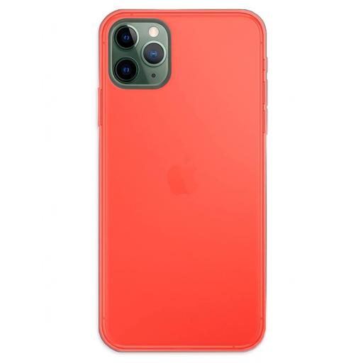 Apple iPhone 11 Pro Max Funda Silicona Rojo