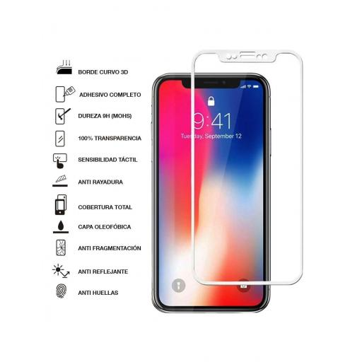 Apple iPhone X / XS / 11 Pro Cristal Templado Full Glue Blanco